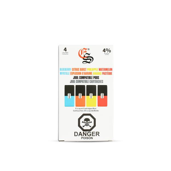 Eonsmoke Nic-Salt Pod (JUUL Compatible Pack of 4 Pods)