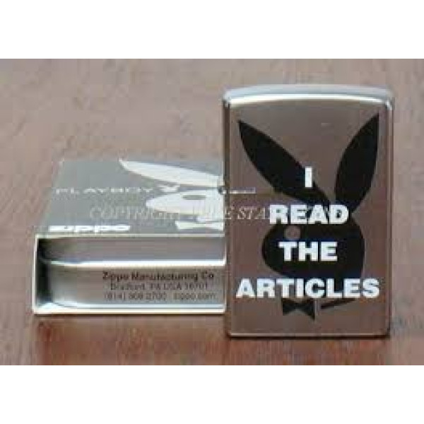 I Read The Articles Playboy Zippo Lighter