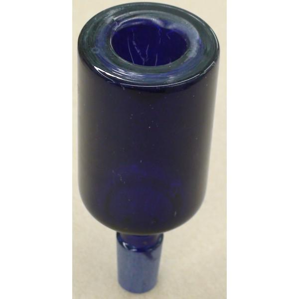 long blue bowl