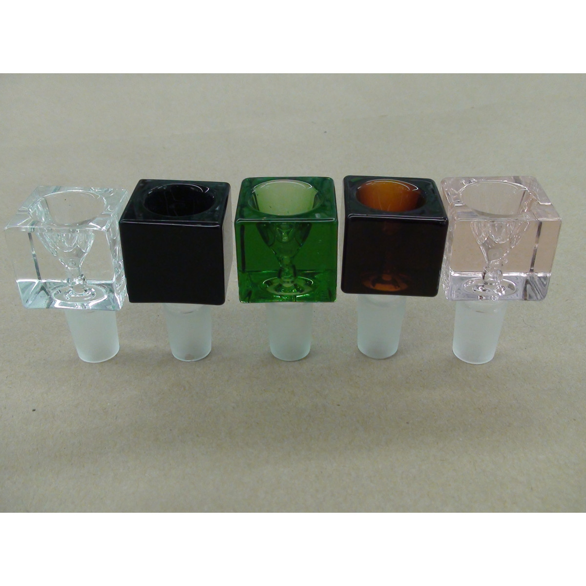 Amber square bowls mm