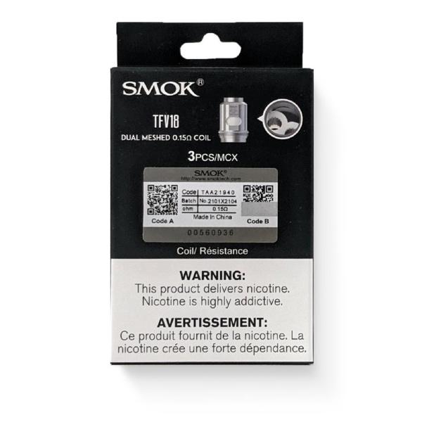 SMOK TFV18 0.15 Ohms 3 pack Coils